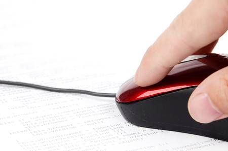 Computer mouse and html Stock Photo - 12785981