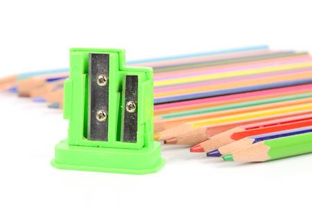 Color pencil and sharpener photo