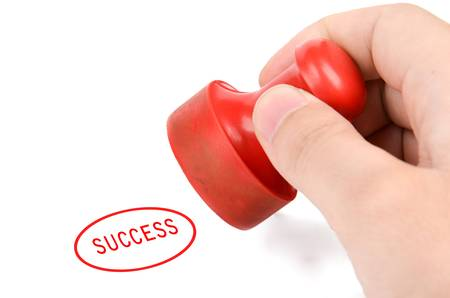 sucess: Rubber stamp