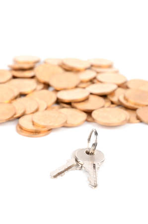 Coin and key Stock Photo - 12821230