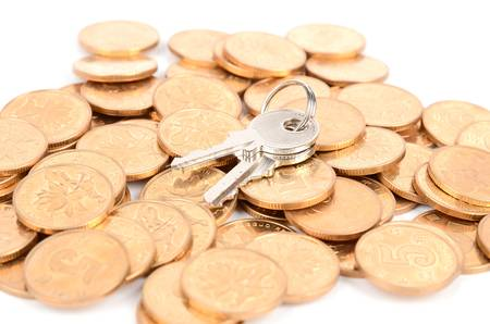 Coin and key Stock Photo - 12820619