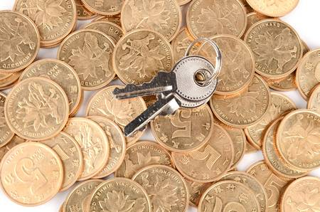 Coin and key Stock Photo - 12820587