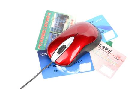 Computer mouse and credit card
