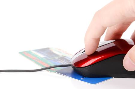 Computer mouse and credit card photo