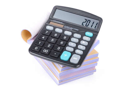 Notebook and calculator Stock Photo - 12875115