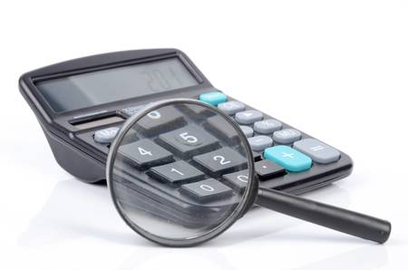 Magnifier and calculator photo