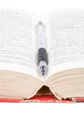 Dictionary and pen
