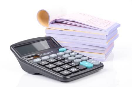 Notebook and calculator