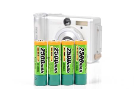 aaa: Digital camera and battery