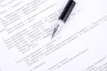 Xml code and pen Stock Photo - 12877130
