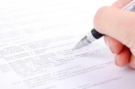 xml: Xml code and pen