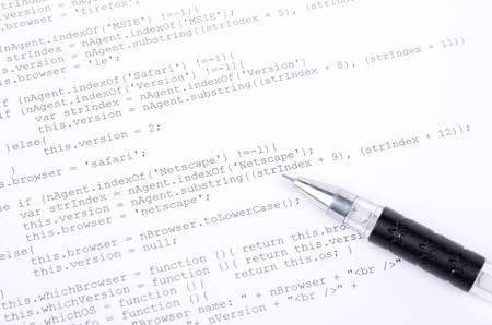 Xml code and pen Stock Photo - 12877174