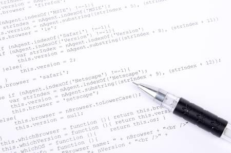 Xml code and pen Stock Photo - 12877174