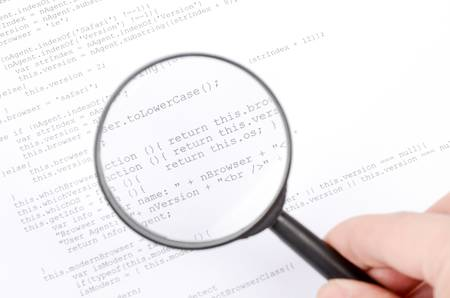Xml code and magnifier Stock Photo - 12877186