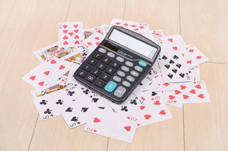Poker and calculator Stock Photo - 12873976