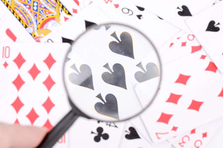 Magnifier and poker photo