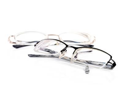 eyeglass frame: Two glasses Stock Photo