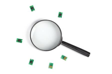 Chip and magnifier photo