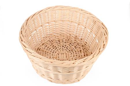 Weave wicker basket photo