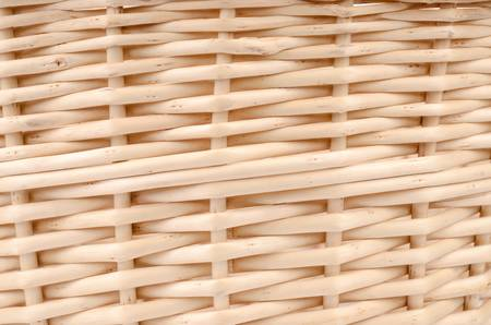 Weave wicker basket photo