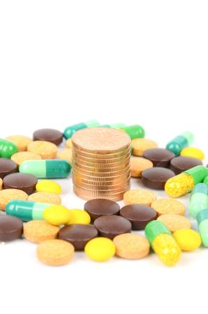 Medicine and coins Stock Photo - 12977400