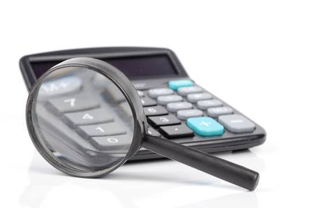 Calculator and magnifier photo