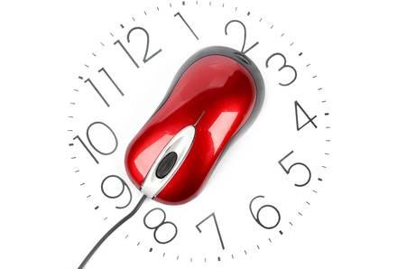 reloj de pared: Tiempo Foto de archivo