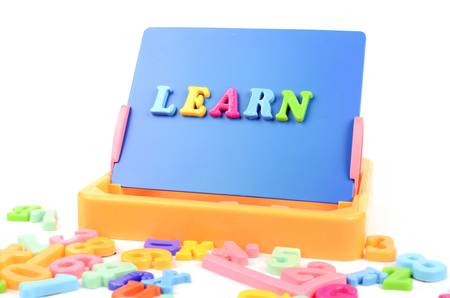 english language: Letters and blackboard