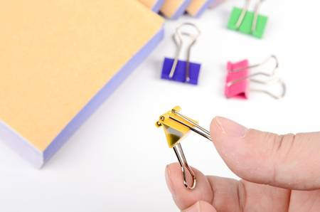 Paperclip and account Stock Photo - 12974686