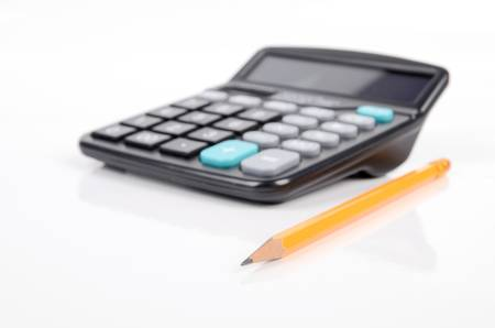 Calculator and pencil Stock Photo - 12974901