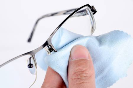 Cleaning glasses photo