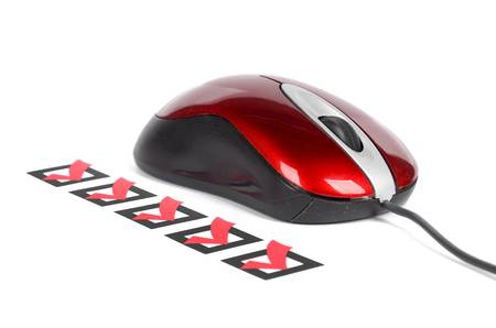 Computer mouse and check mark Stock Photo - 12975260