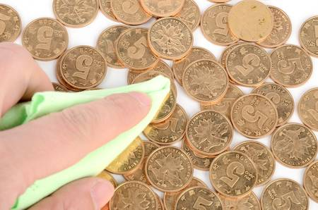 cleaning debt: Cleaning coins