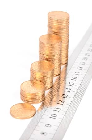 Coins and ruler photo