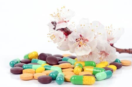 Flower and medicine photo