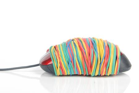 Elastico e mouse del computer