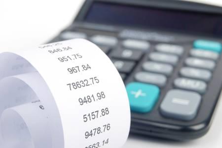 Receipt and calculator