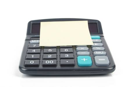 Notepaper and calculator Stock Photo - 13086712