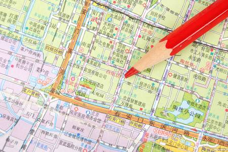 map pencil: Map and pencil