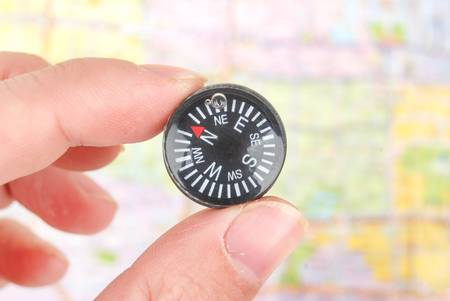 Map and compass Stock Photo - 13086232