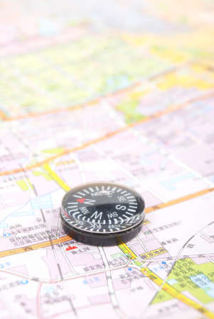 Map and compass Stock Photo - 13072699