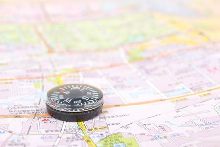 Map and compass Stock Photo - 13072712
