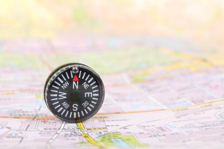 Map and compass Stock Photo - 13072717