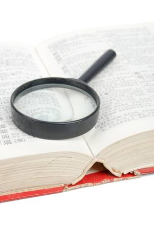 Magnifier and dictionary photo