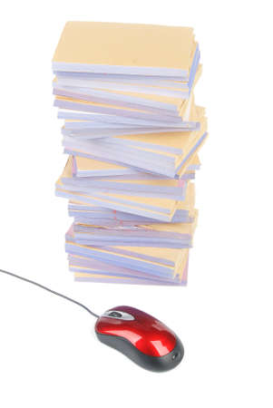 Documents and computer mouse Stock Photo - 13137936