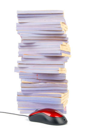 Documents and computer mouse Stock Photo - 13137937