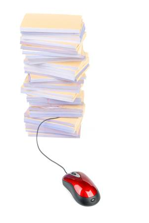 Documents and computer mouse Stock Photo - 13137909