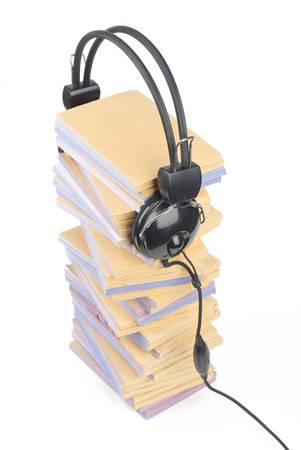 Documents and headphone Stock Photo - 13137935