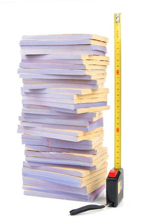 Documents and tape line Stock Photo - 13137956