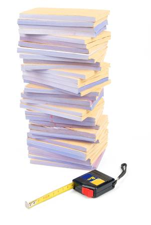 Documents and tape line Stock Photo - 13137954